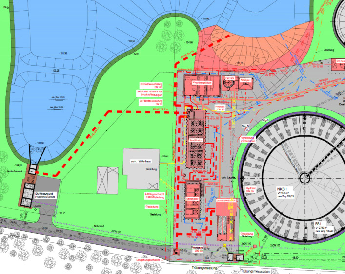 Neubau Ozonung, Sandfiltration und FM-Anlage auf der Kläranlage Schloß Holte-Stuckenbrock