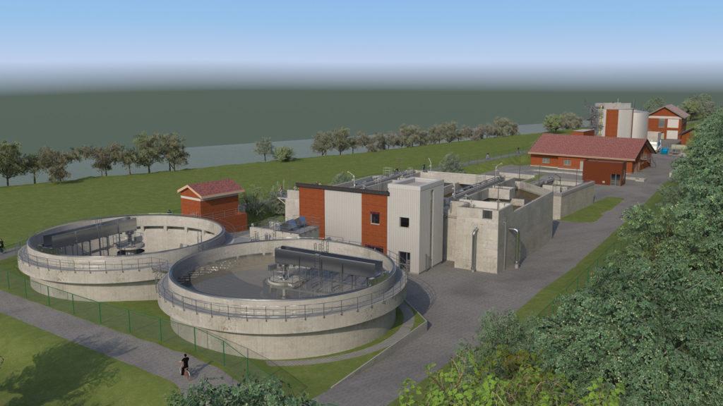 Ertüchtigung der KA Vlotho durch Neubau Belebungsanlage und Neubau Faulbehälter